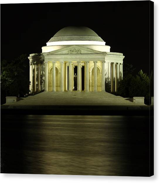 Jefferson Memorial Canvas Print - The Jefferson Memorial by Kim Hojnacki