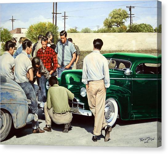 Mercury Canvas Print - The Jesse Lopez '41 Ford by Ruben Duran