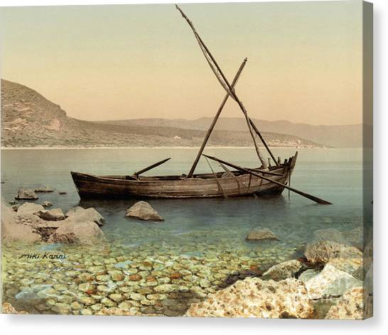The Jesus Boat At The Sea Of Galilee  Canvas Print