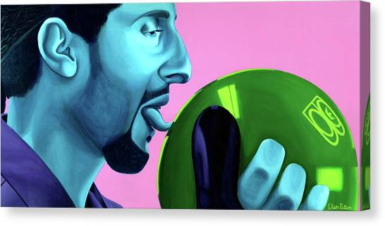 Bowling Ball Canvas Print - The Jesus by Ellen Patton