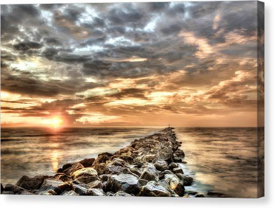 The Jetties At Ponce Inlet Canvas Print