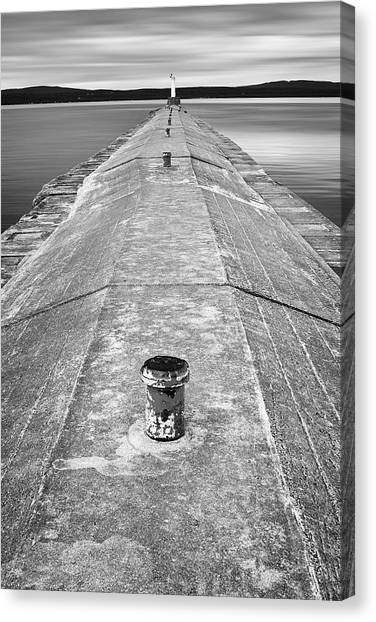 Long Wharf Canvas Print - The Jetty by Adam Romanowicz
