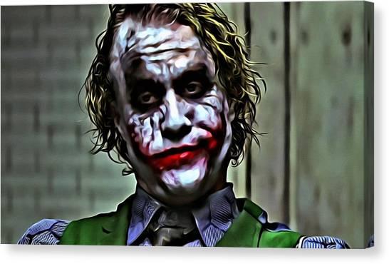 Heath Ledger Canvas Print - The Joker by Florian Rodarte