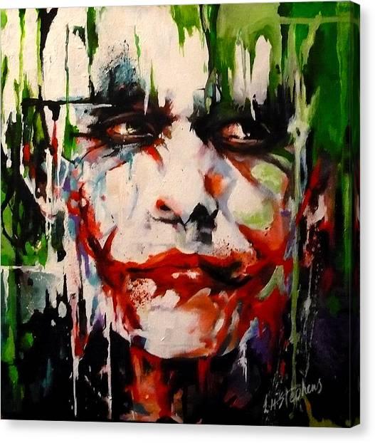 Heath Ledger Canvas Print - The Joker by Lorna Stephens
