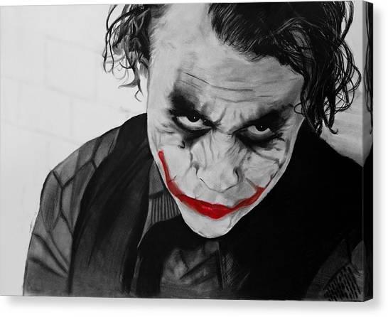Heath Ledger Canvas Print - The Joker by Robert Bateman