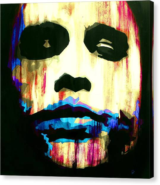 Heath Ledger Canvas Print - The Joker Why So Serious by Brad Jensen