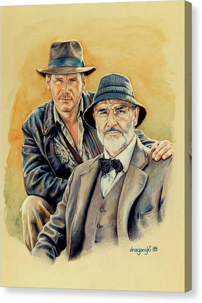 Father And Son Canvas Print - The Jones Boys by Edward Draganski