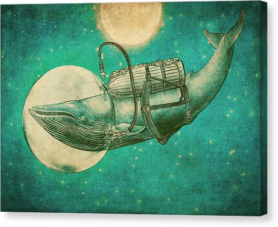 Ocean Animals Canvas Print - The Journey by Eric Fan