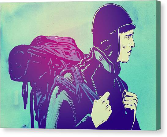 Backpacks Canvas Print - The Journey by Giuseppe Cristiano