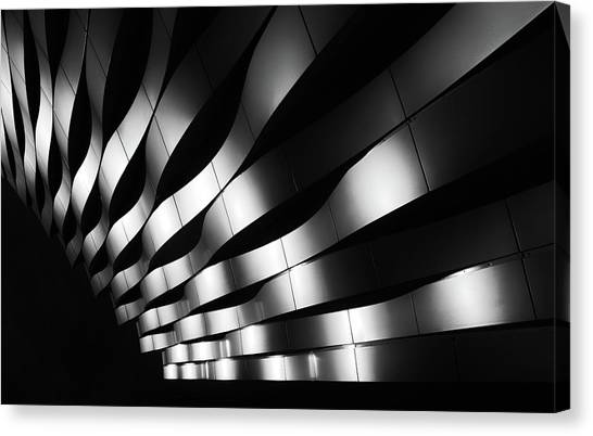 Modern Architecture Canvas Print - The Joy Of Waves by Jeroen Van De