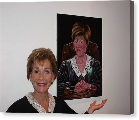 The Judge Shows Appreciation Canvas Print