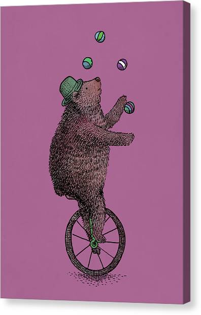 Bears Canvas Print - The Juggler by Eric Fan
