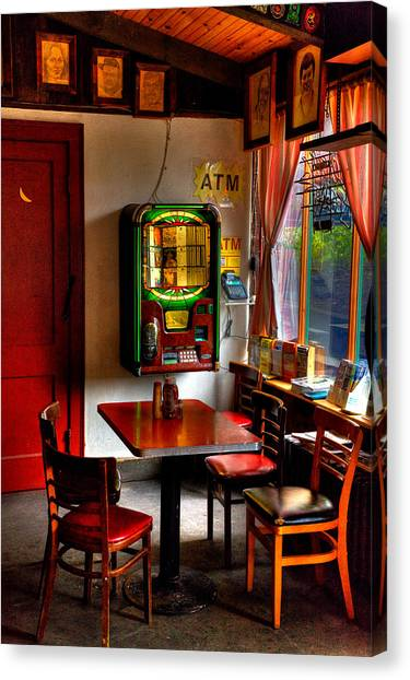 Jukebox Canvas Print - The Jukebox At The Tap Room by David Patterson