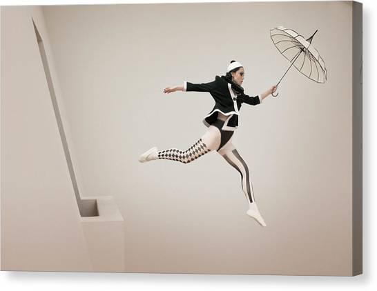 Jump Canvas Print - The Jump by Christine Von Diepenbroek