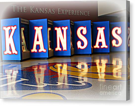 University Of Kansas Canvas Print - The Kansas Experience by Amy Steeples
