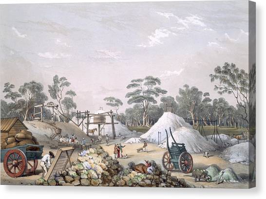 Immigration Canvas Print - The Kapunda Copper Mine, From South by George French Angas