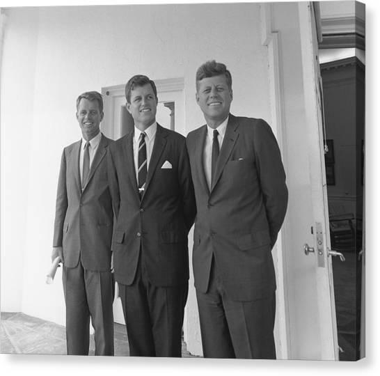 Democratic Canvas Print - The Kennedy Brothers by War Is Hell Store