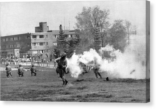 National Guard Canvas Print - The Kent State Massacre by Underwood Archives