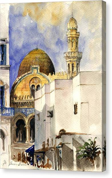 Mosques Canvas Print - The Ketchaoua Mosque by Juan  Bosco