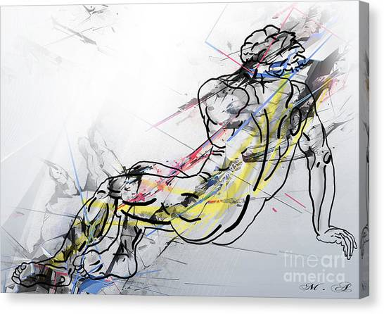 Male Nudes Canvas Print - The King David  by Mark Ashkenazi