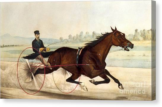 Currier And Ives Canvas Print - The King Of The Turf by Currier And Ives