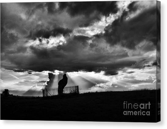 Rainclouds Canvas Print - The King Stone And Storm Clouds by Tim Gainey