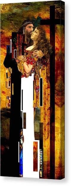 The Kiss     Christ And Maria Magdalena Canvas Print