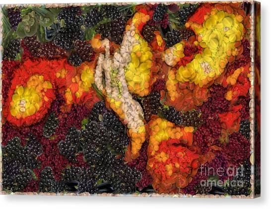 Passionate Canvas Print - The Kiss - Being One With Nature by Nishanth Gopinathan