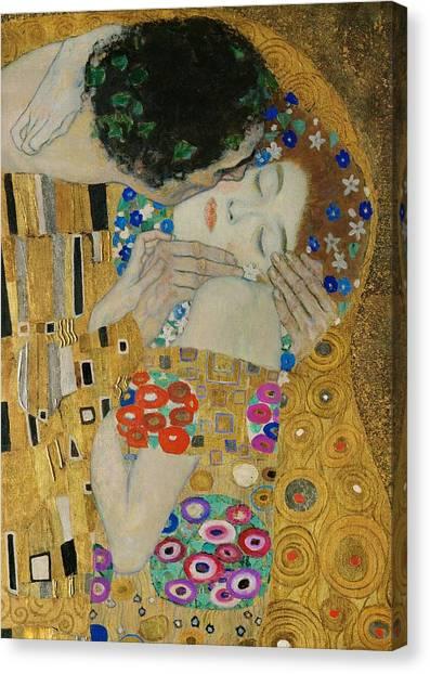 The Kiss Detail Canvas Print