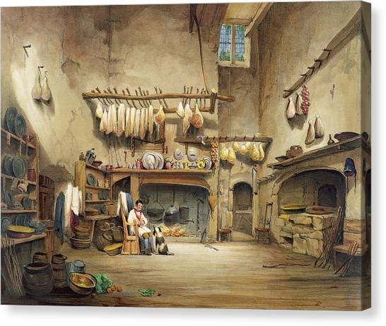 Country Kitchen Decor Canvas Print - The Kitchen by English School