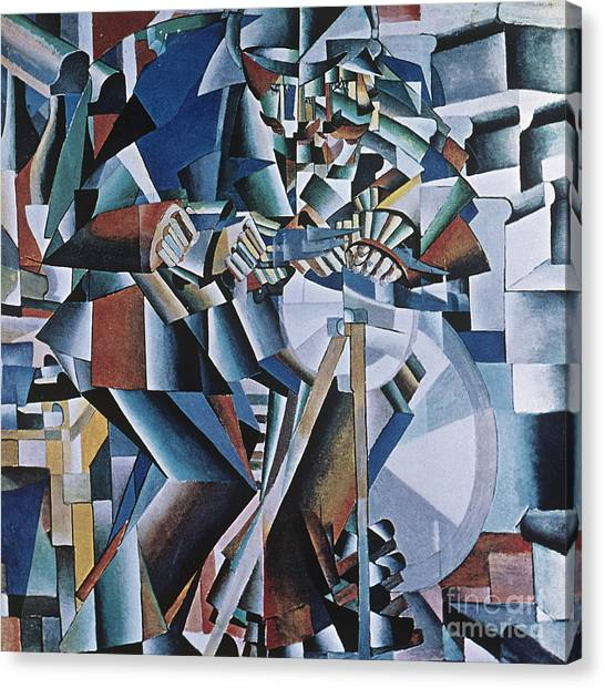 Suprematism Canvas Print - The Knife Grinder by Kazimir  Malevich