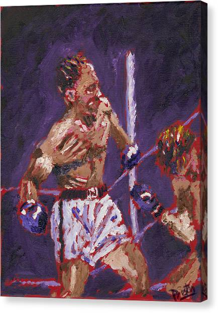 George Foreman Canvas Print - The Knockout by Preston Sandlin