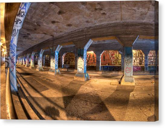 Canvas Print featuring the photograph The Krog Street Tunnel by Mark E Tisdale