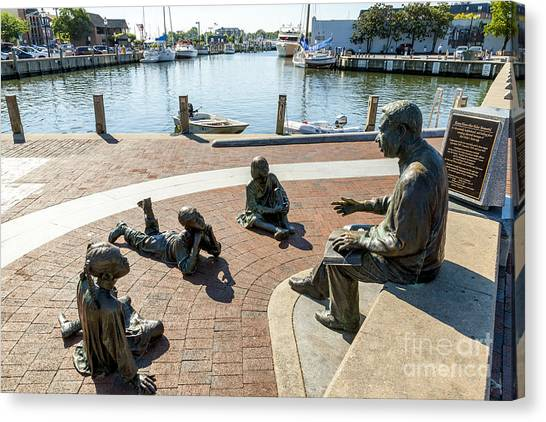 The Kunta Kinte-alex Haley Memorial In Annapolis Canvas Print