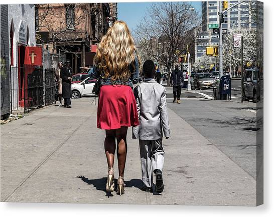 Street Canvas Print - The Lady And Her Gentleman by Pablo Abreu