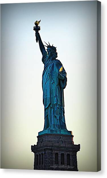 Statue Of Liberty Canvas Print - The Lady Liberty by Ronalyn F