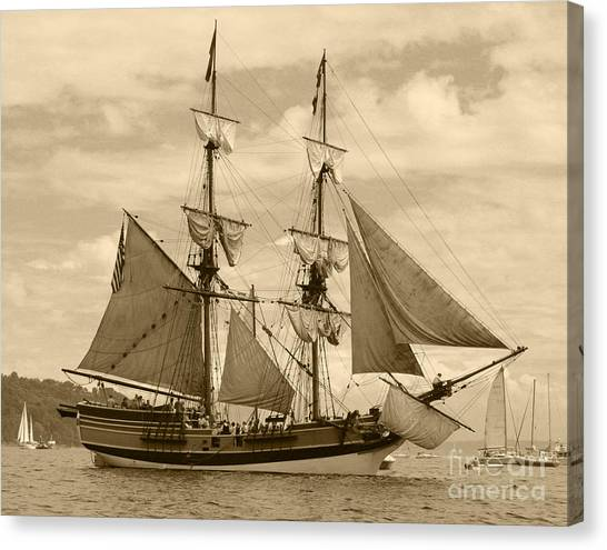 The Lady Washington Ship Canvas Print