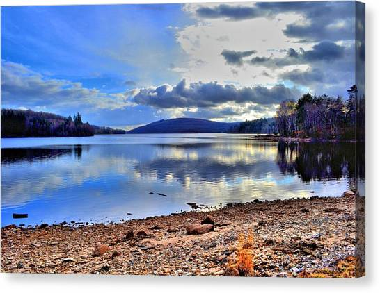 The Lake Canvas Print by Dave Woodbridge