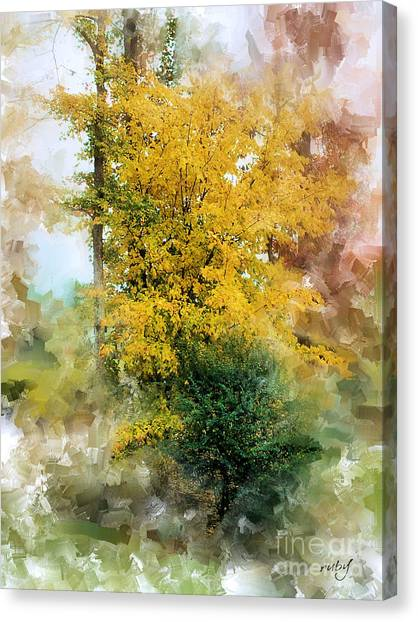 The Lake Trees Canvas Print