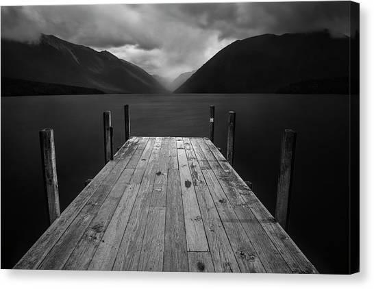 Pier Canvas Print - The Lake by Yan Zhang