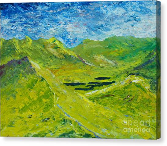 The Lakes Of Killarney  Original Sold Canvas Print
