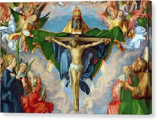 Crucify Canvas Print - The Landauer Altarpiece by Albrecht Durer