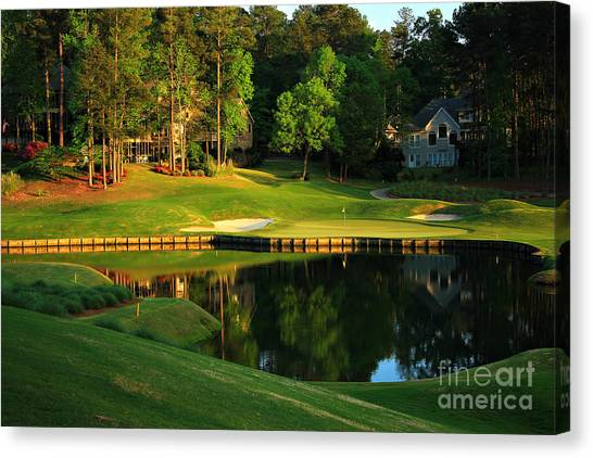 Golf At The Landing #3 In Reynolds Plantation On Lake Oconee Ga Canvas Print