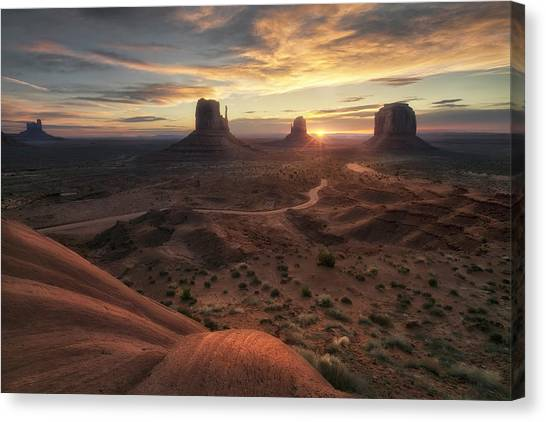 Barren Canvas Print - The Landscape Of My Dreams by Fiorenzo Carozzi