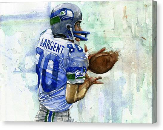 Seattle Seahawks Canvas Print - The Largent by Michael  Pattison