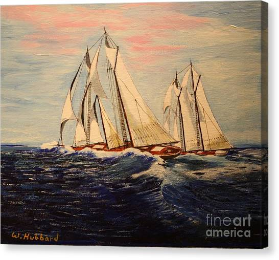 The Last Great Int'l. Fisherman's Race Canvas Print