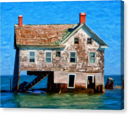 The Last House On Holland Island Canvas Print