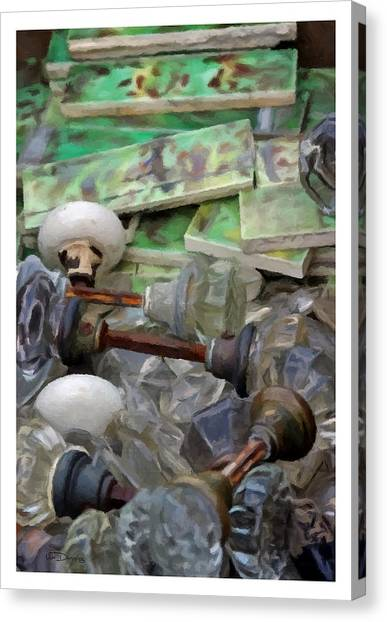 The Last Knobs Canvas Print by Udo Dussling