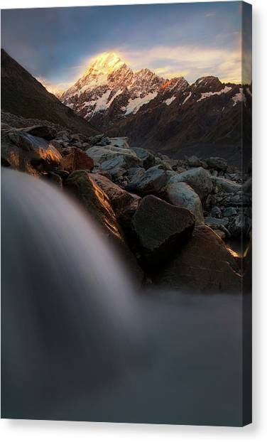 Mountain Sunsets Canvas Print - The Last Light by Yan Zhang