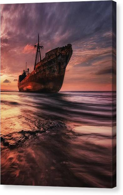 The Last Port Canvas Print by